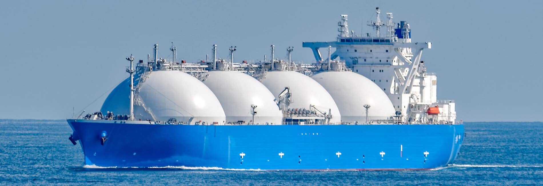 Ship Financing - A perfect example of an well kempt LNG Ship (Liquid Natural Gas) in mid-ocean