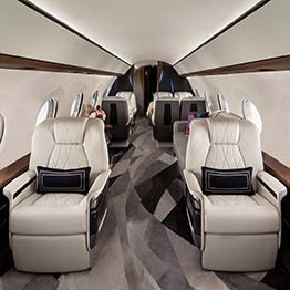 A Gulfstream G700 being sold via a private jet broker