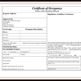A temporary certificate of occupancy with requirements